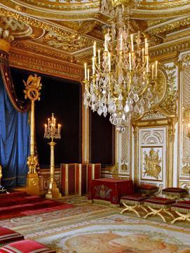 La salle du trône au château de Fontainebleau