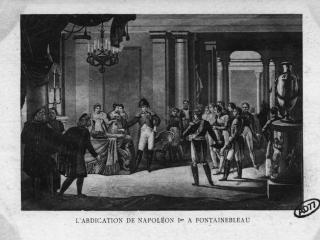 Gravure historique représentant Napoléon Ier