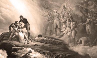 Allégorie de l'exil et de la mort de Napoléon Ier à Sainte-Hélène, d'après Horace Vernet