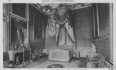 The room of Pope Pius VII, Château de Fontainebleau, photograph