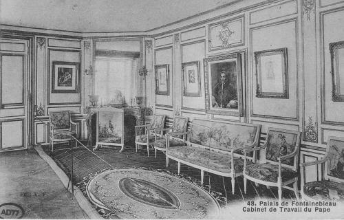 The study of Pope Pius VII, Château de Fontainebleau, photograph