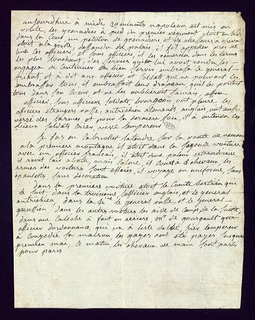 Account of the abdication of Napoleon I