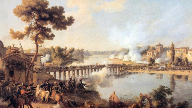Général Bonaparte commandant la Bataille de Lodi