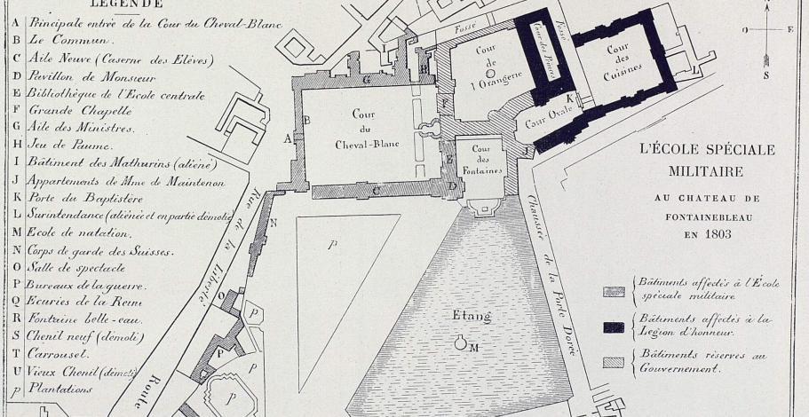 Plan de l'Ecole spéciale militaire de Fontainebleau